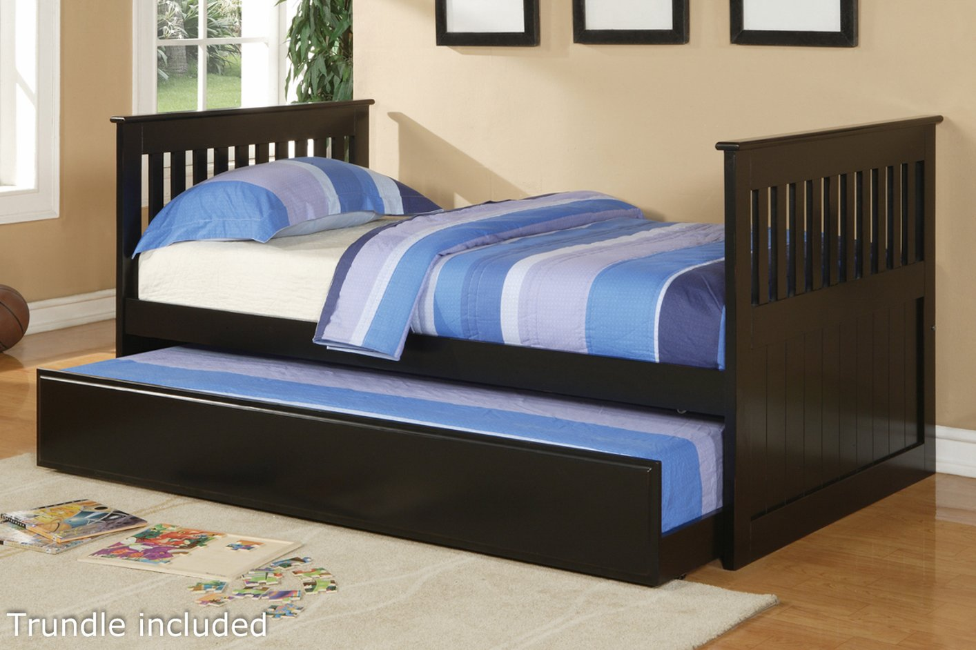 Black Wood Twin Size Bed Steal A Sofa Furniture Outlet Los Angeles Ca