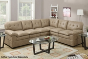 Tyson Brown Fabric Sectional Sofa