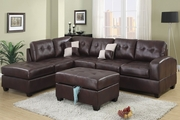 Vale Espresso Leatherette Sectional Sofa