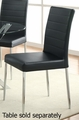 Vance Silver Metal Dining Chair