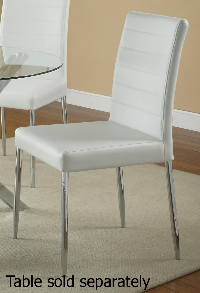 vance white metal dining chair