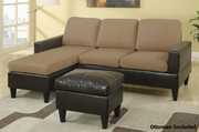Vanja Saddle Sectional Sofa and Ottoman