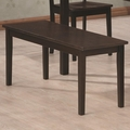 Venice Cappuccino Wood Dining Bench