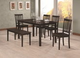 Venice Cappuccino Wood Dining Table Set