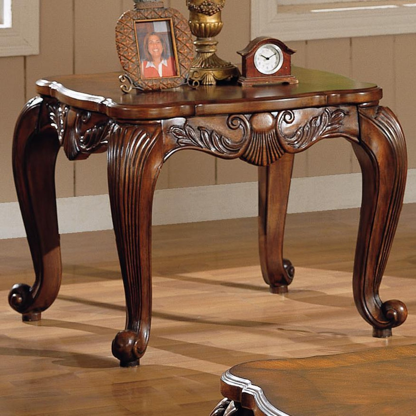 Victoria Brown Wood End Table. Victoria Brown Wood End Table   Steal A Sofa Furniture Outlet Los