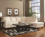 Walker Off White Fabric Sectional Sofa