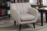 Whe Beige Fabric Accent Chair