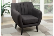 Whe Black Fabric Accent Chair