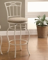 White Fabric Bar Stool