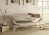 White Fabric Bench