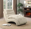 White Fabric Chaise Lounge