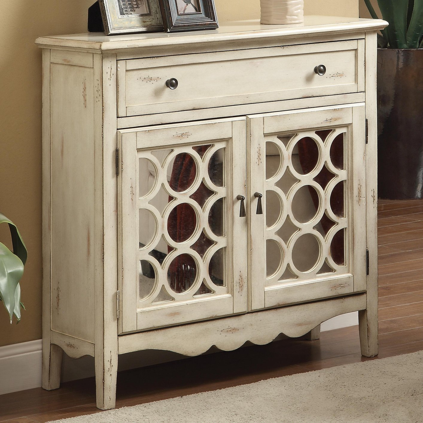 White Wood Accent Cabinet Steal A Sofa Furniture Outlet