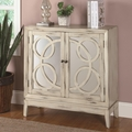 White Glass Accent Cabinet