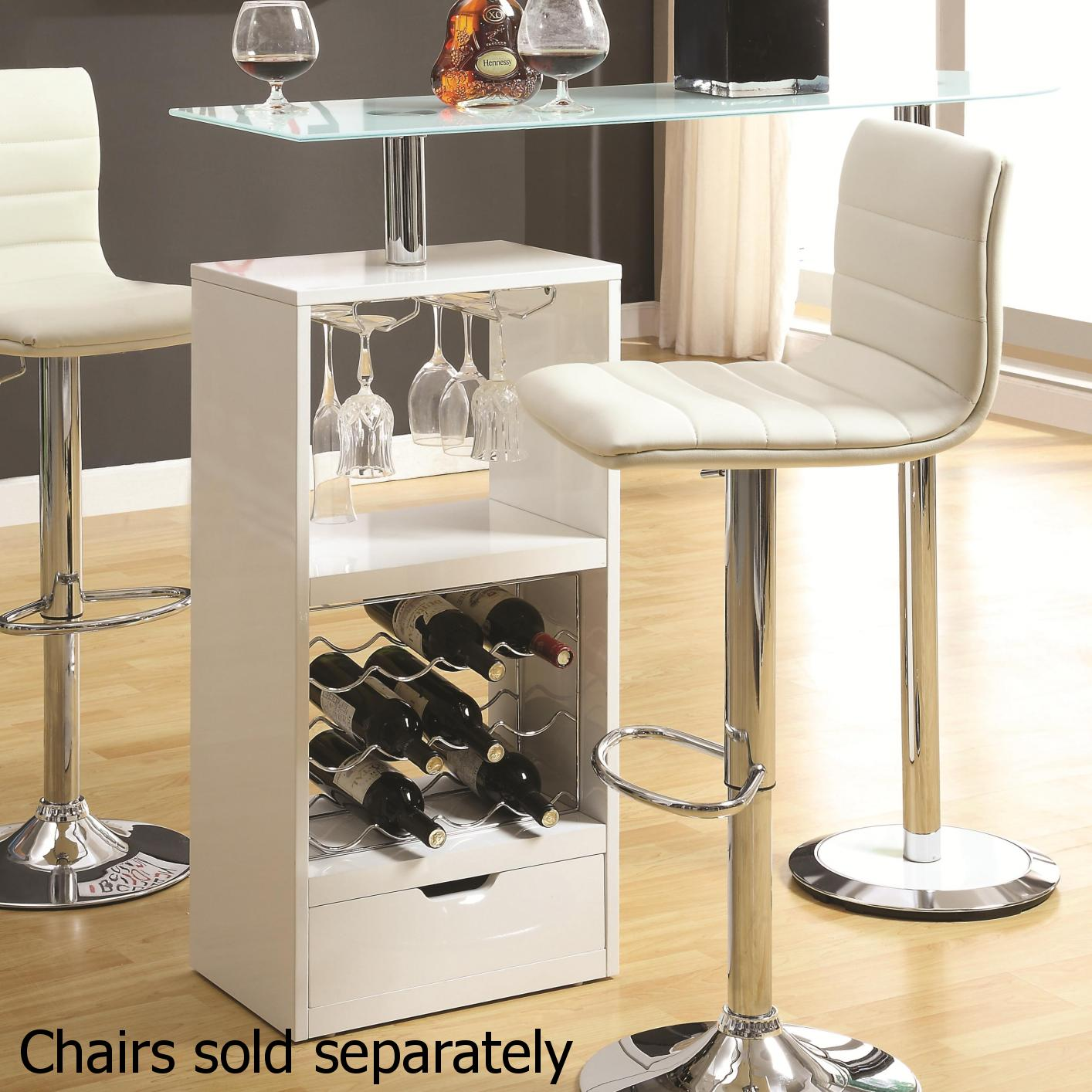 White Wood Bar Table Steal A Sofa Furniture Outlet Los Angeles CA