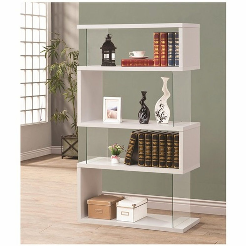 bookcases modern west inside contemporary white quelfilm bookcase info lacquer elm