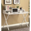 White Glass Desk