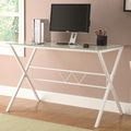 White Metal Office Desk