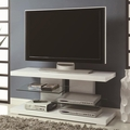 White Glass TV Stand