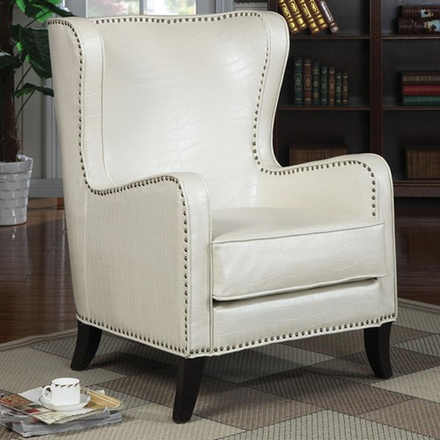 White Leather Accent Chair Steal A Sofa Furniture Outlet