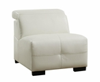 White Leather Armless Chair