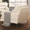 Benjamin White Leather Chair