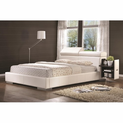 White Leather Bed