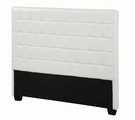 White Leather Eastern King Size Headboard