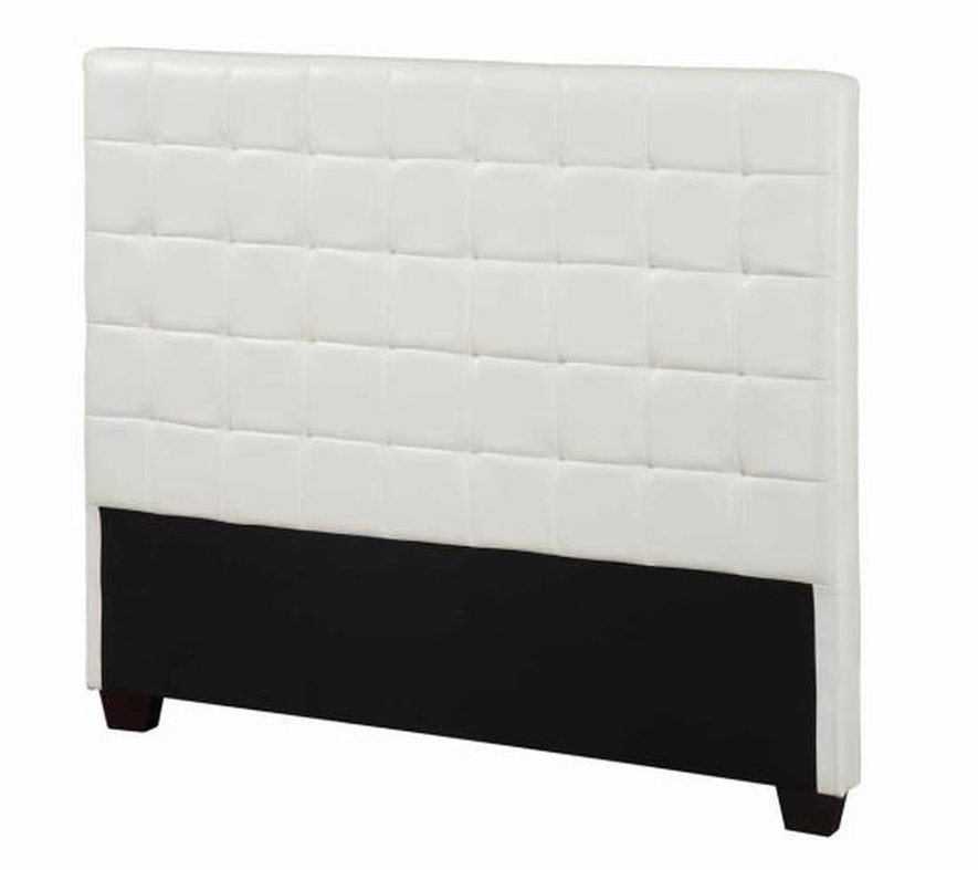 white leather full size headboard