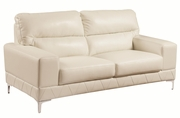 Benjamin White Leather Loveseat