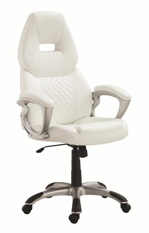 White Leather Office Chair Steal A Sofa Furniture Outlet