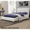 Tully White Leather Bed