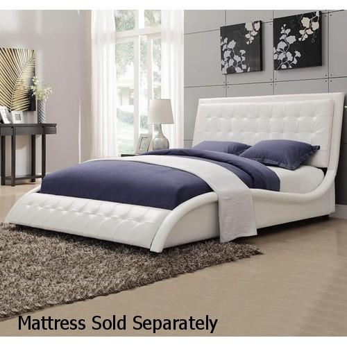 White Leather Queen Size Bed   Steal A Sofa Furniture Outlet Los