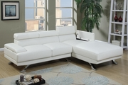 Rockwell White Leather Sectional Sofa