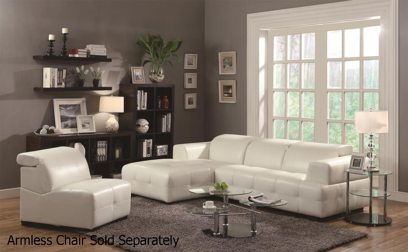 White Leather Sectional Sofa : sectional sofas white - Sectionals, Sofas & Couches