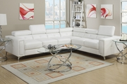 White Metal Sectional Sofa