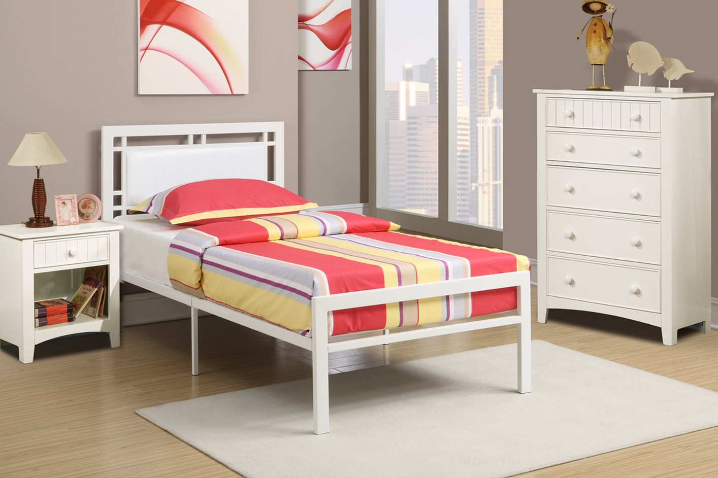 Leather Twin Bed Part - 49: ... White Leather Twin Size Bed ...