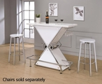 White Metal Bar Unit