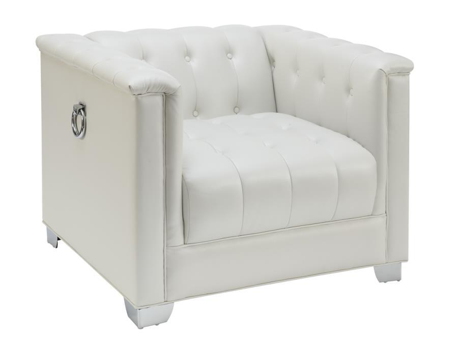 Chaviano Sofa In White Leatherette 505391 By Coaster W Options: Steal-A-Sofa Furniture Outlet Los