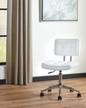 White Metal Office Chair