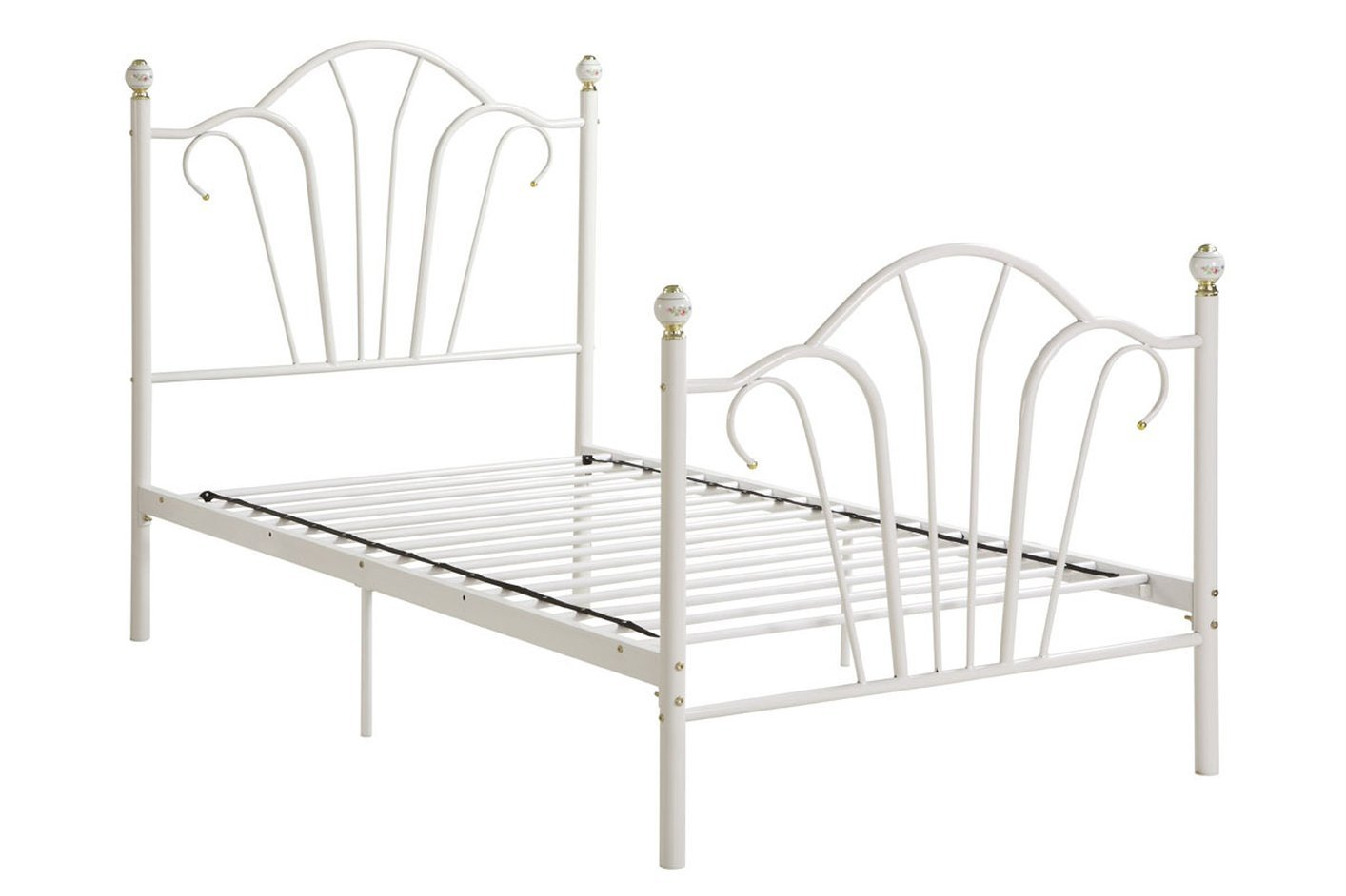 White Twin Bed Frames white metal twin size bed - steal-a-sofa furniture outlet los