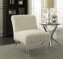 White Plastic Accent Chair