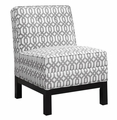 White Wood Accent Chair