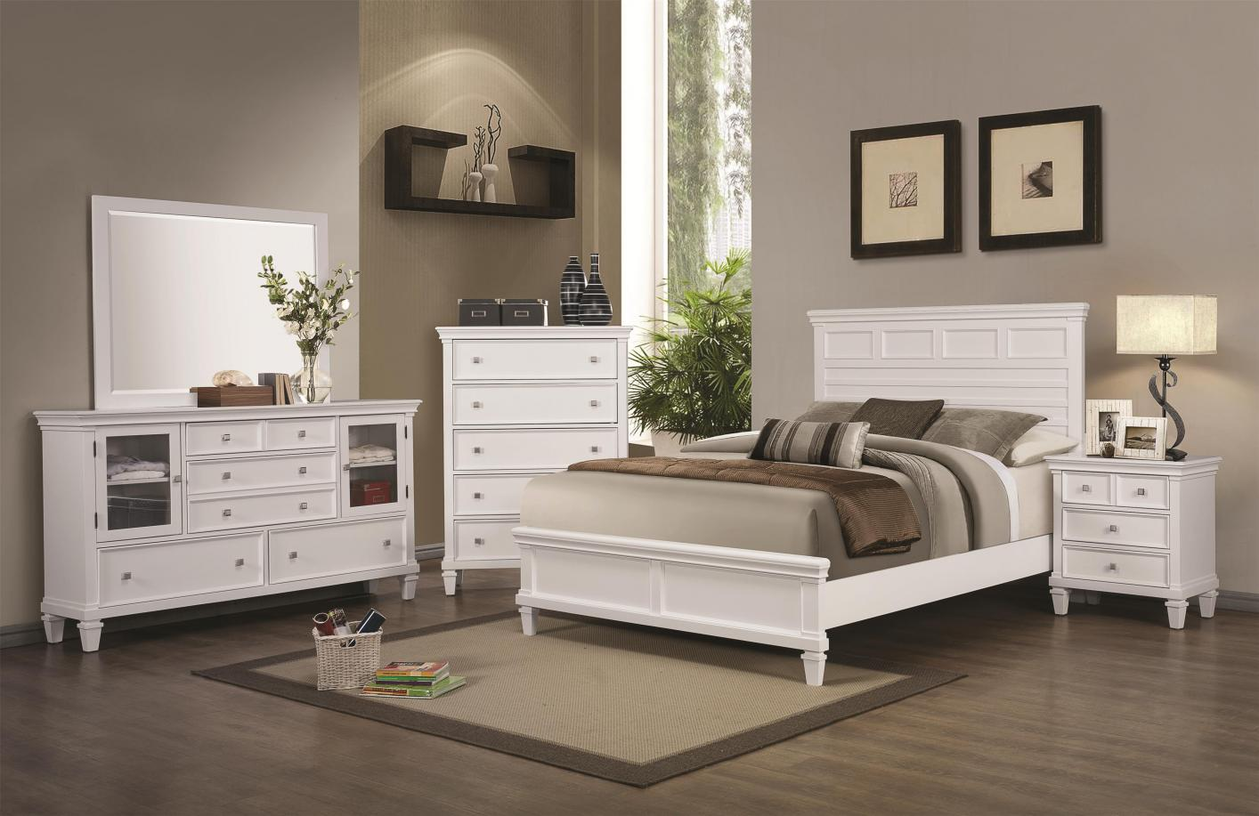 coaster 200221kw white wood california king size bed steal a sofa furniture outlet los angeles ca. Black Bedroom Furniture Sets. Home Design Ideas