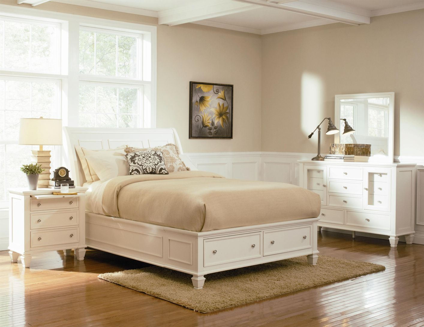 White wooden bed frame - White Wood Bed White Wood Bed