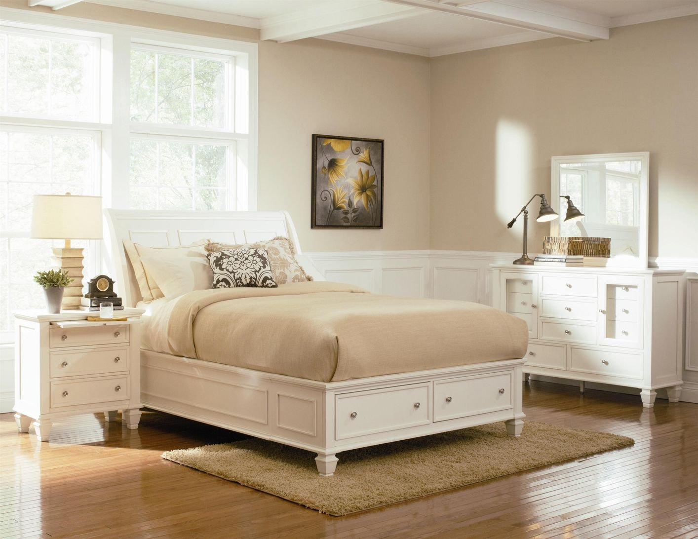 White Wood Chest of Drawers - Steal-A-Sofa Furniture Outlet Los ...