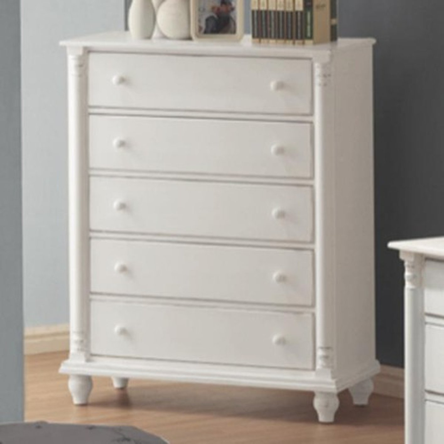 White wood chest of drawers steal a sofa furniture for Bedroom furniture 90036