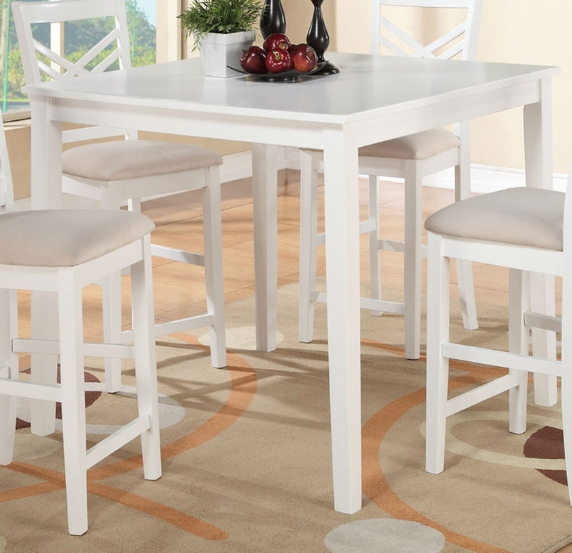 white sofa cover with wooden table | White Wood Dining Table - Steal-A-Sofa Furniture Outlet ...