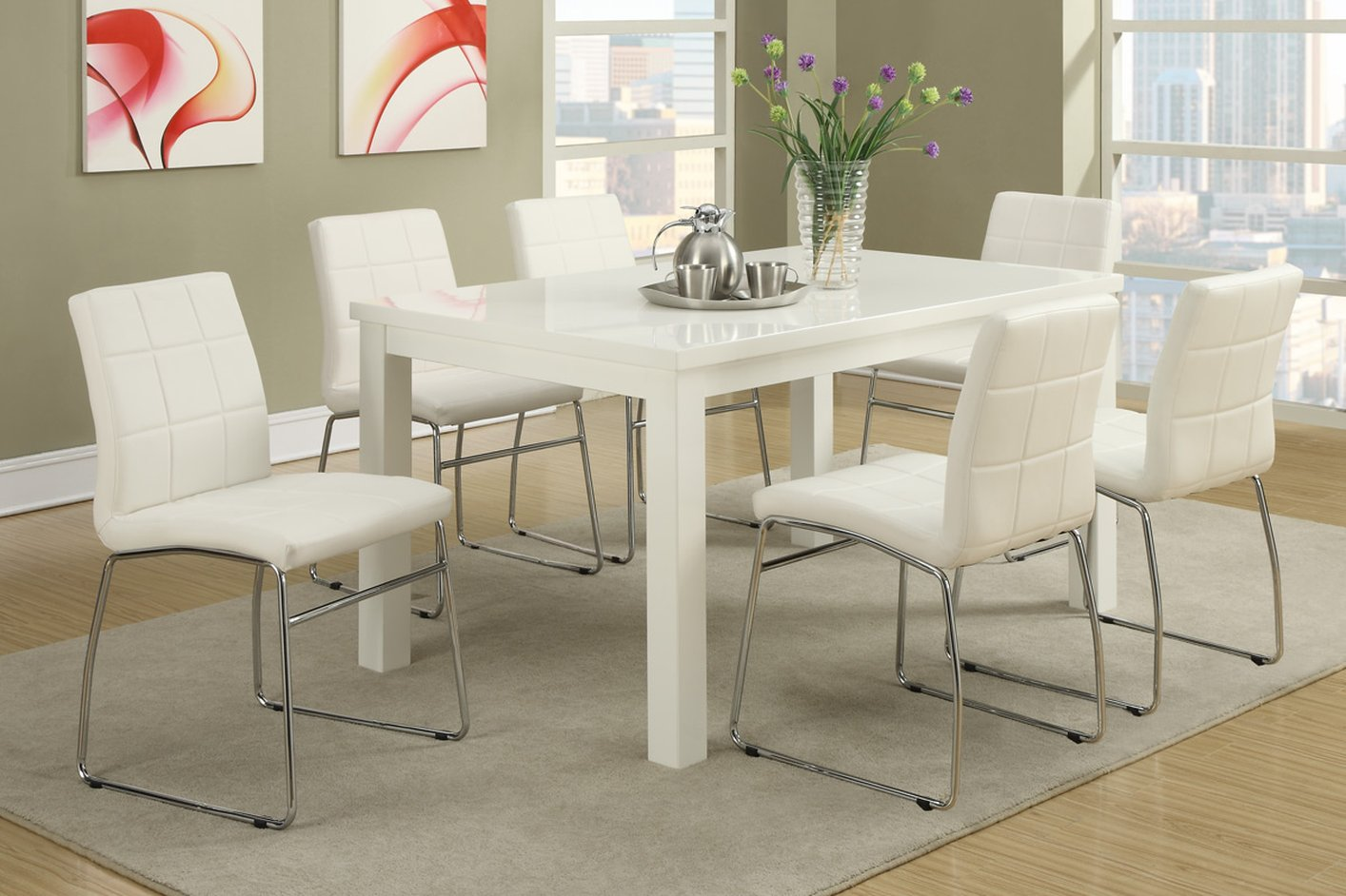 white wood dining table steal a sofa furniture outlet los angeles ca. Black Bedroom Furniture Sets. Home Design Ideas