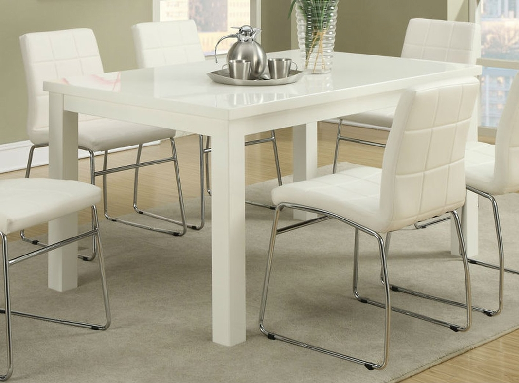 Poundex f2407 white wood dining table steal a sofa for White wood dining room chairs