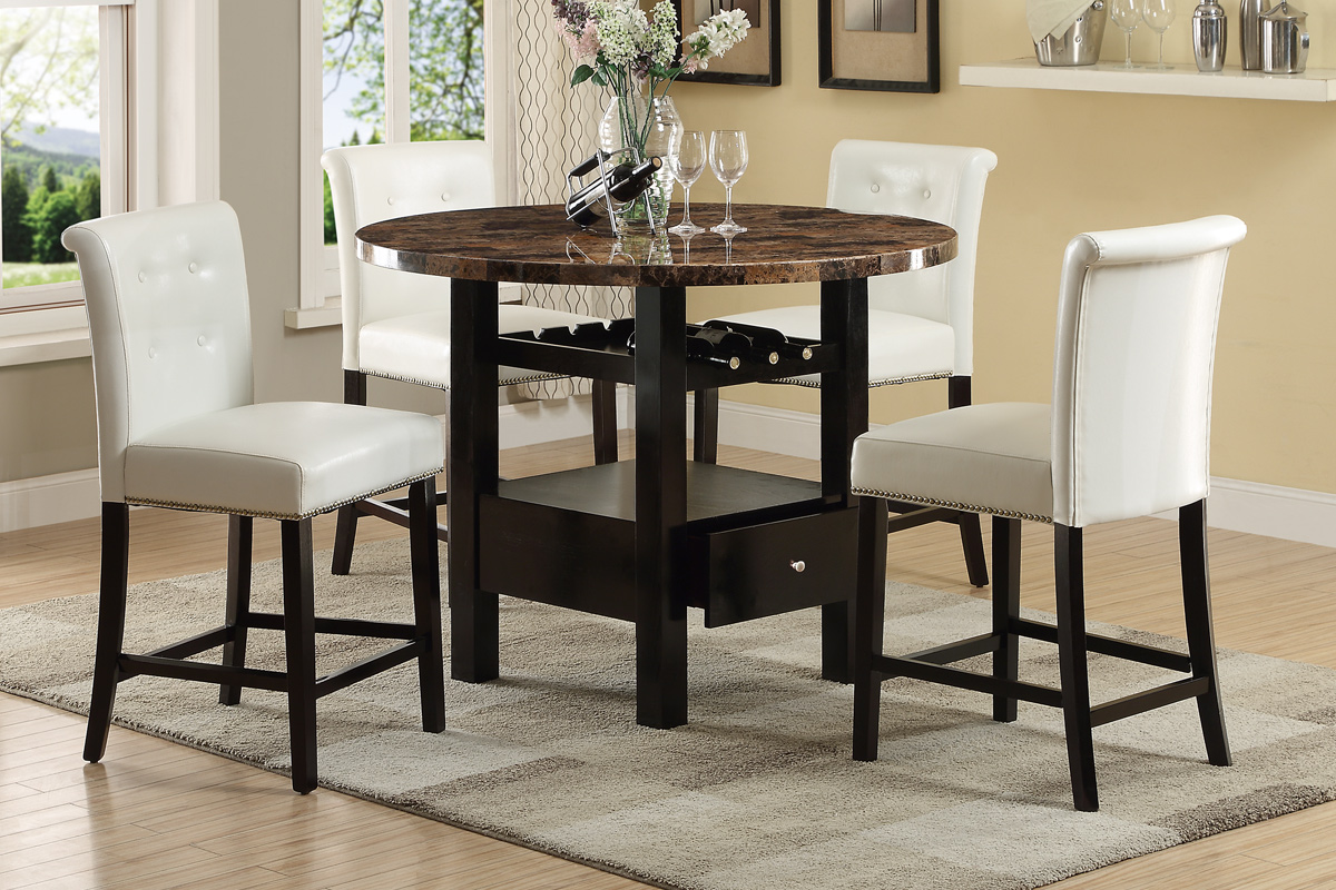 White Wood Dining Table And Chair Set